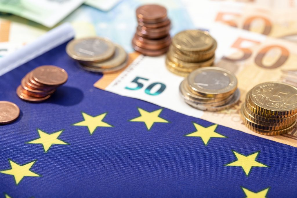 European Union financial stimulus on coronavirus Covid-19 pandemic concept